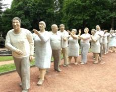Figurengruppe im Park